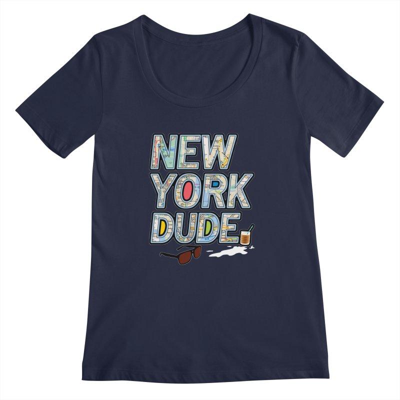 The Dude NY Women's Scoopneck by inboxstreetwear's Shop