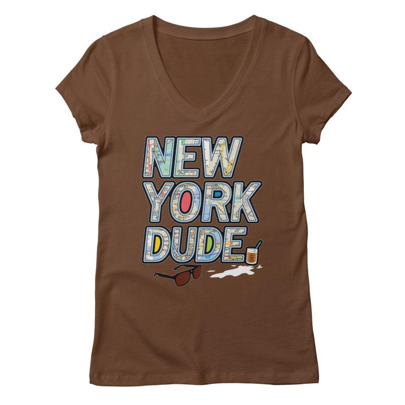The Dude NY Women's V-Neck by inboxstreetwear's Shop