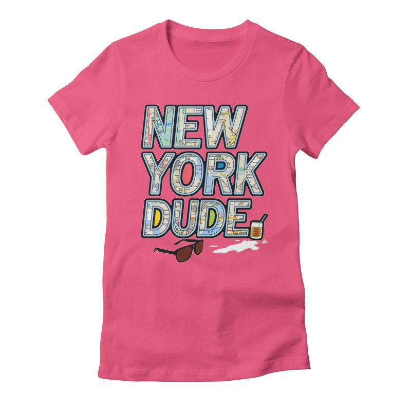The Dude NY Women's Fitted T-Shirt by inboxstreetwear's Shop