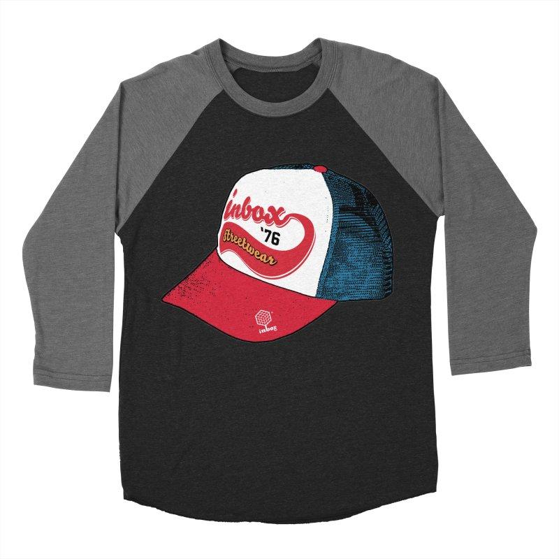 inbox mother trucker Men's Baseball Triblend T-Shirt by inboxstreetwear's Shop