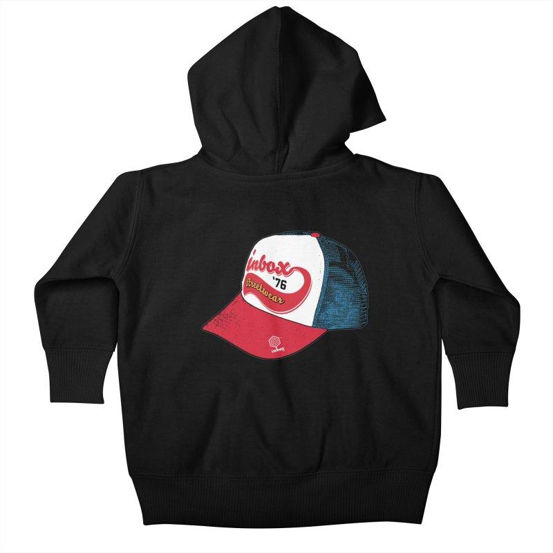 inbox mother trucker Kids Baby Zip-Up Hoody by inboxstreetwear's Shop