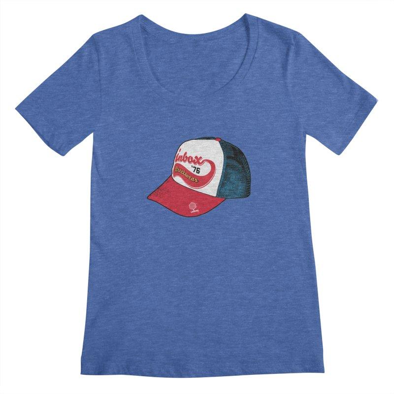 inbox mother trucker Women's Scoopneck by inboxstreetwear's Shop