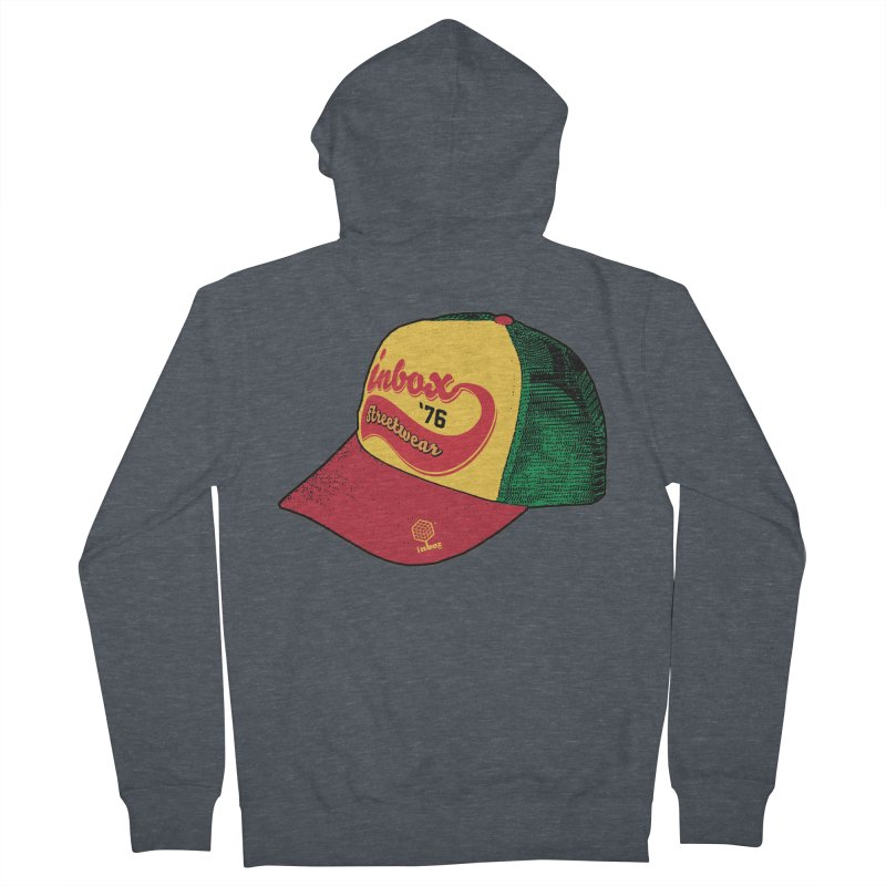 inbox rasta mother trucker Men's Zip-Up Hoody by inboxstreetwear's Shop
