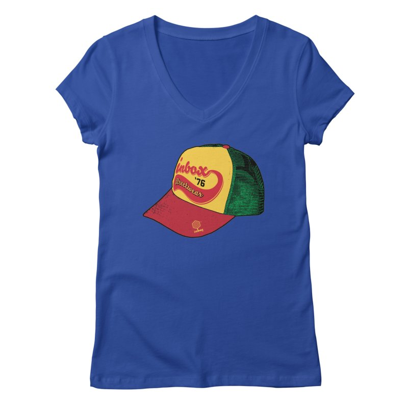 inbox rasta mother trucker Women's V-Neck by inboxstreetwear's Shop
