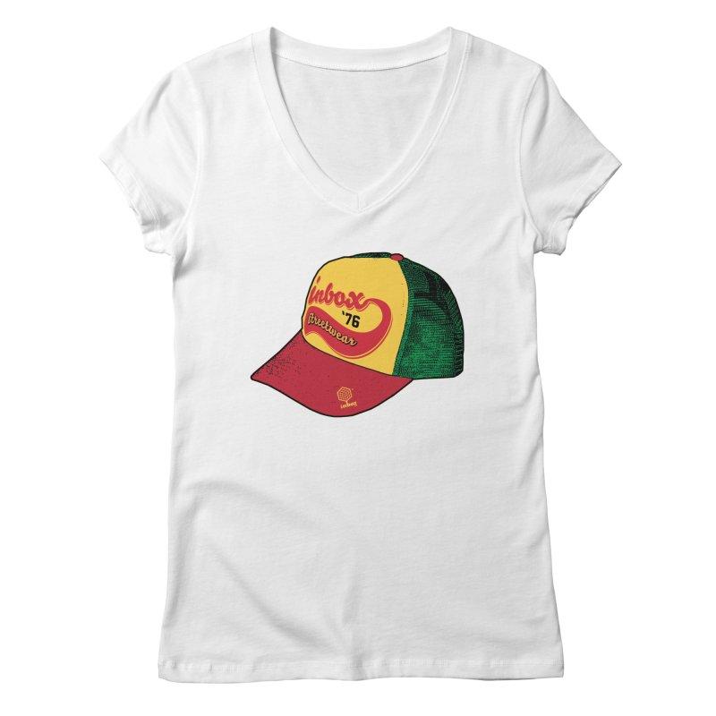 inbox rasta mother trucker Women's V-Neck by inboxstreetwear's Shop