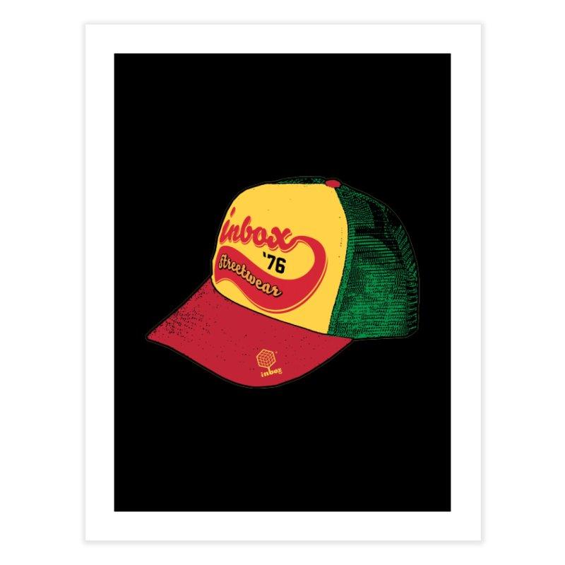 inbox rasta mother trucker Home Fine Art Print by inboxstreetwear's Shop
