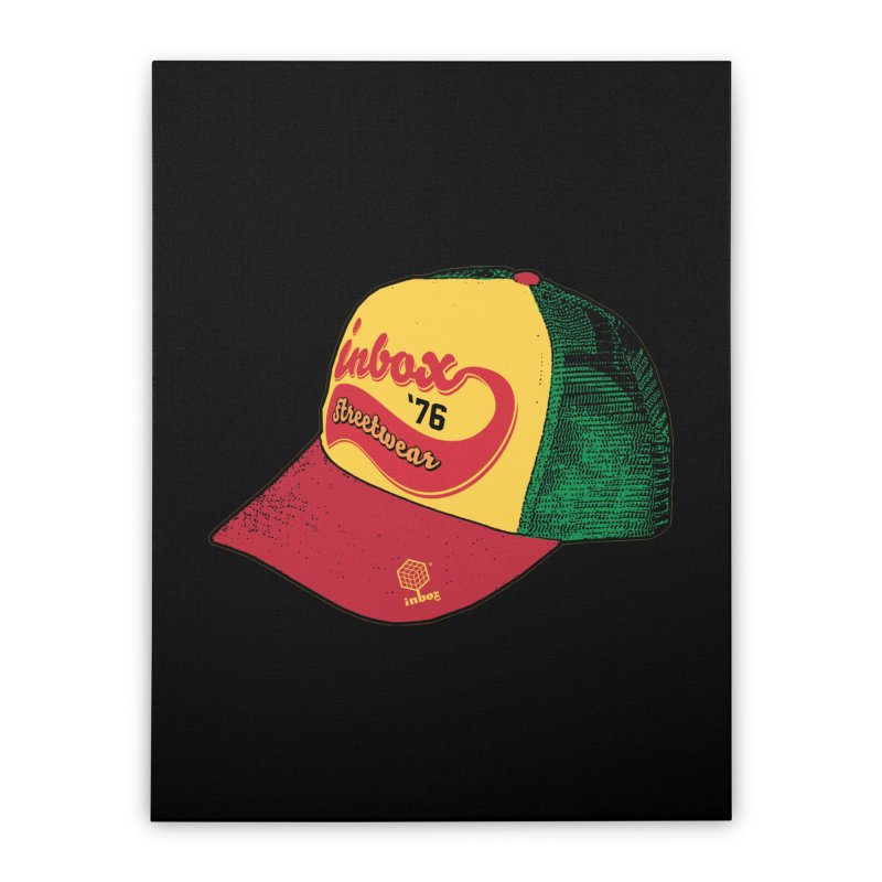inbox rasta mother trucker Home Stretched Canvas by inboxstreetwear's Shop