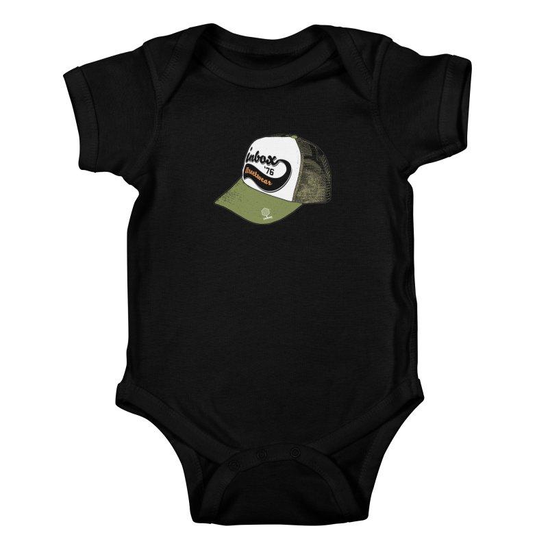 inbox army mother trucker Kids Baby Bodysuit by inboxstreetwear's Shop