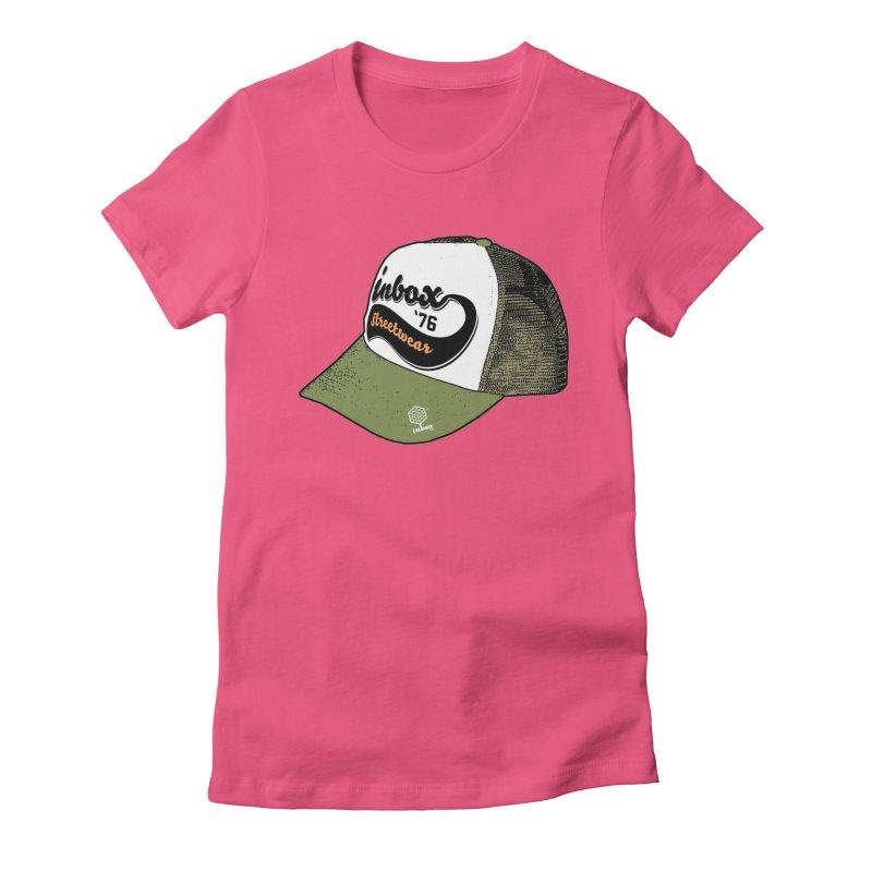 inbox army mother trucker Women's Fitted T-Shirt by inboxstreetwear's Shop