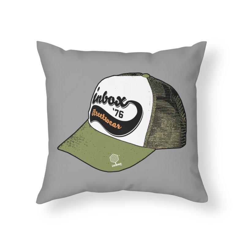 inbox army mother trucker Home Throw Pillow by inboxstreetwear's Shop