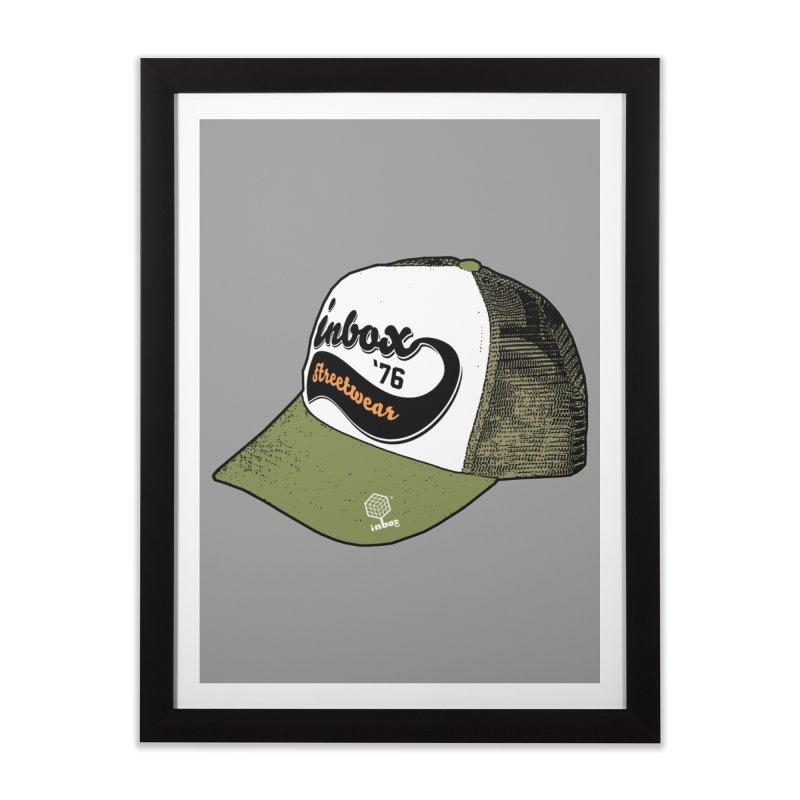 inbox army mother trucker Home Framed Fine Art Print by inboxstreetwear's Shop