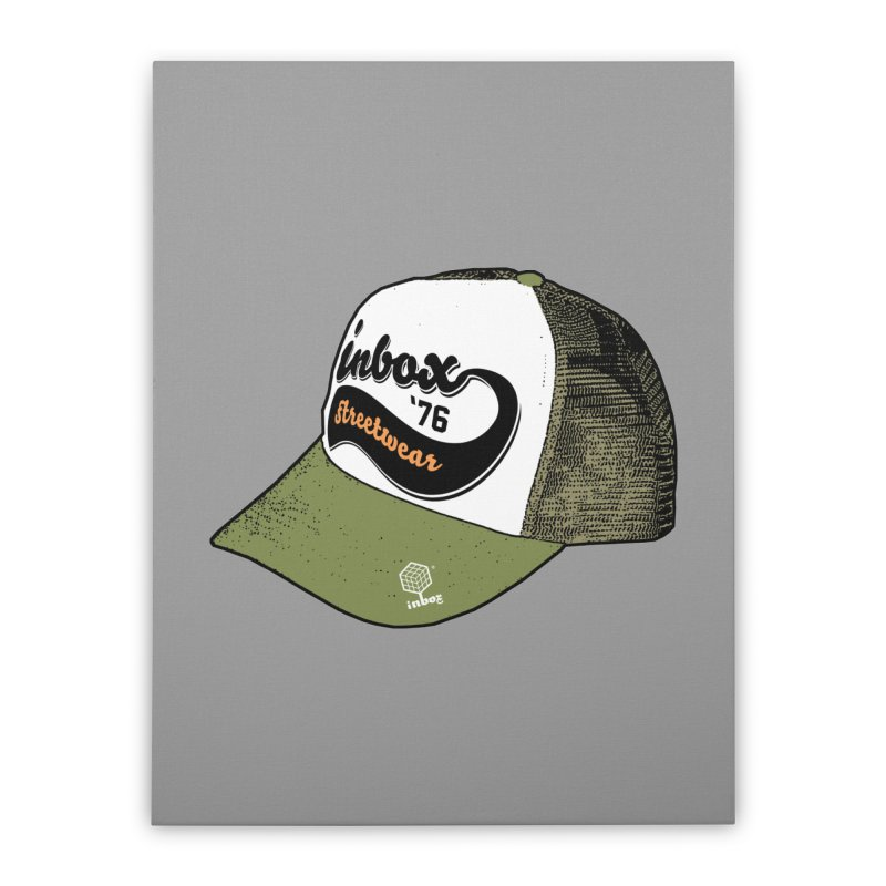 inbox army mother trucker Home Stretched Canvas by inboxstreetwear's Shop