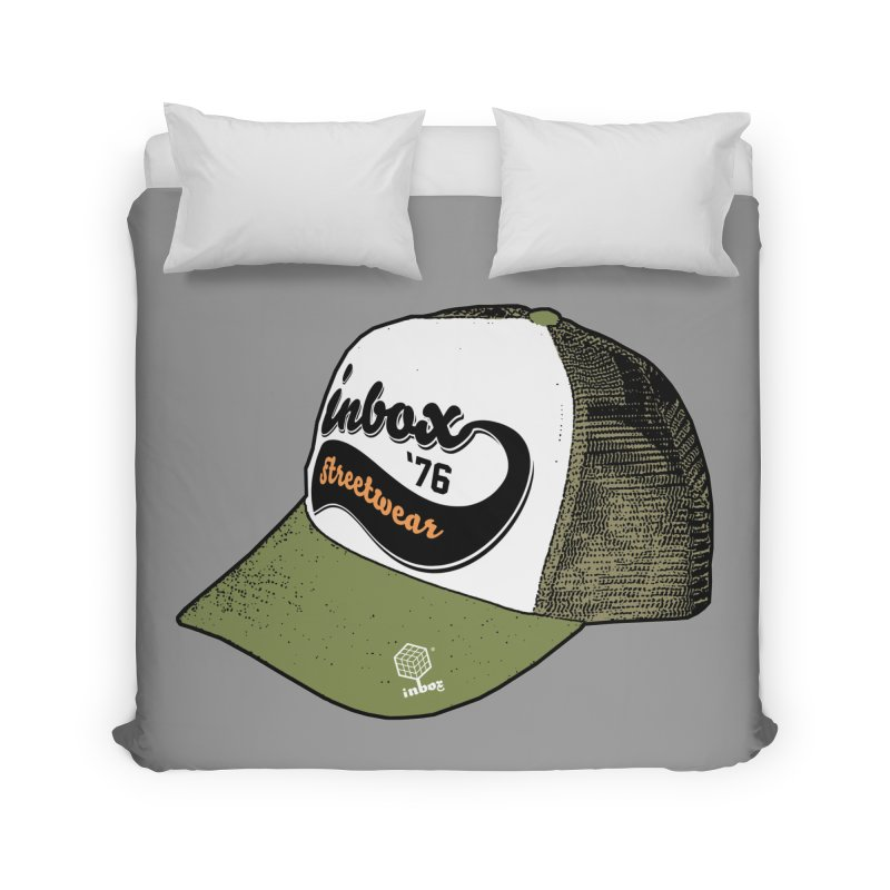 inbox army mother trucker Home Duvet by inboxstreetwear's Shop