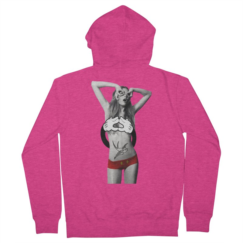 Rather go naked for Threadless Women's Zip-Up Hoody by inboxstreetwear's Shop