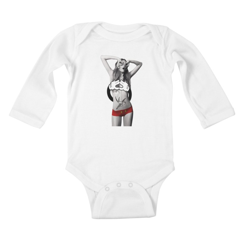 Rather go naked for Threadless Kids Baby Longsleeve Bodysuit by inboxstreetwear's Shop