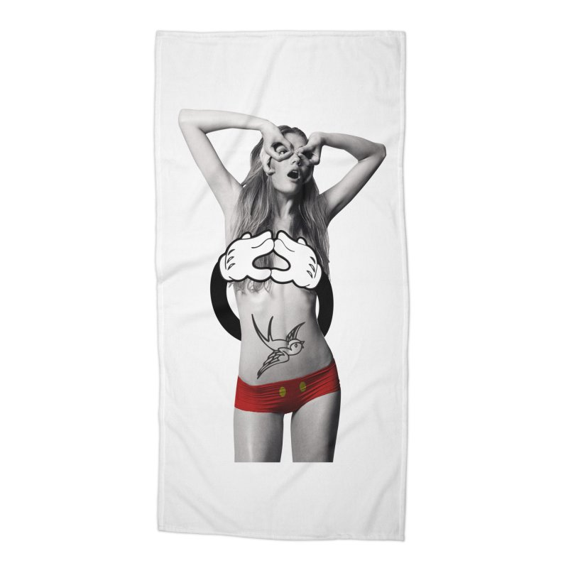 Rather go naked for Threadless Accessories Beach Towel by inboxstreetwear's Shop