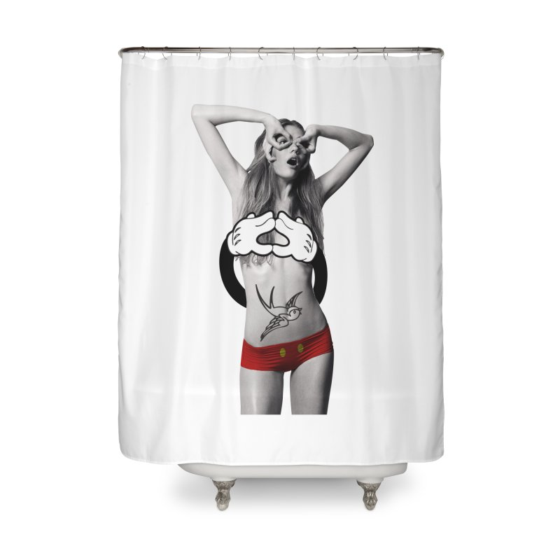 Rather go naked for Threadless Home Shower Curtain by inboxstreetwear's Shop