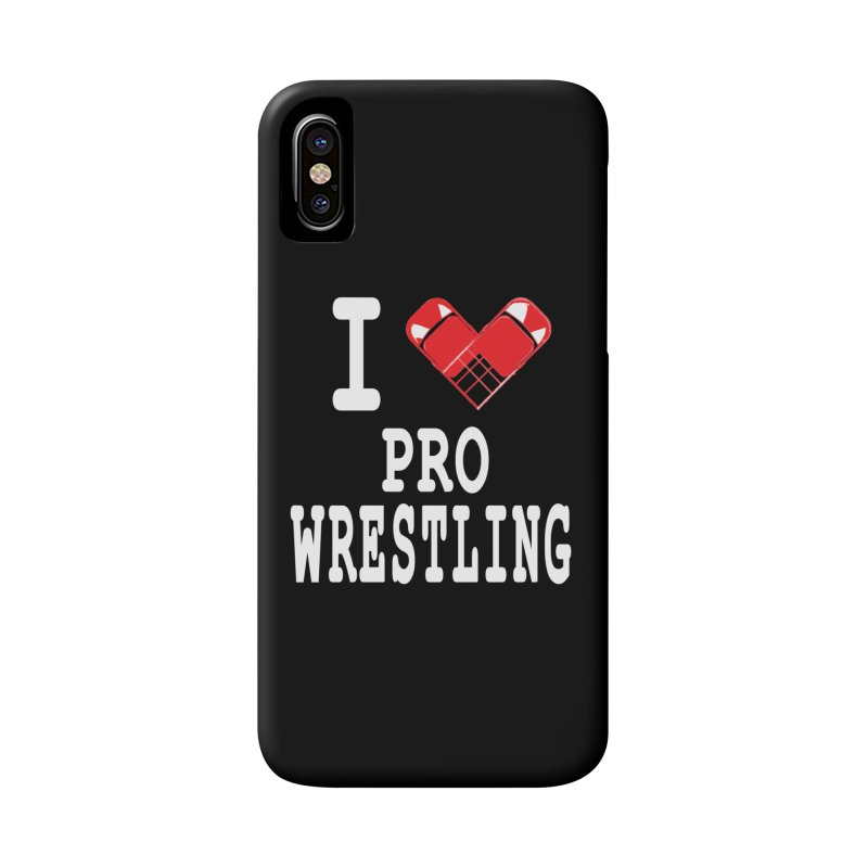 I Heart Wrasslin! Accessories Phone Case by inbrightestday's Artist Shop