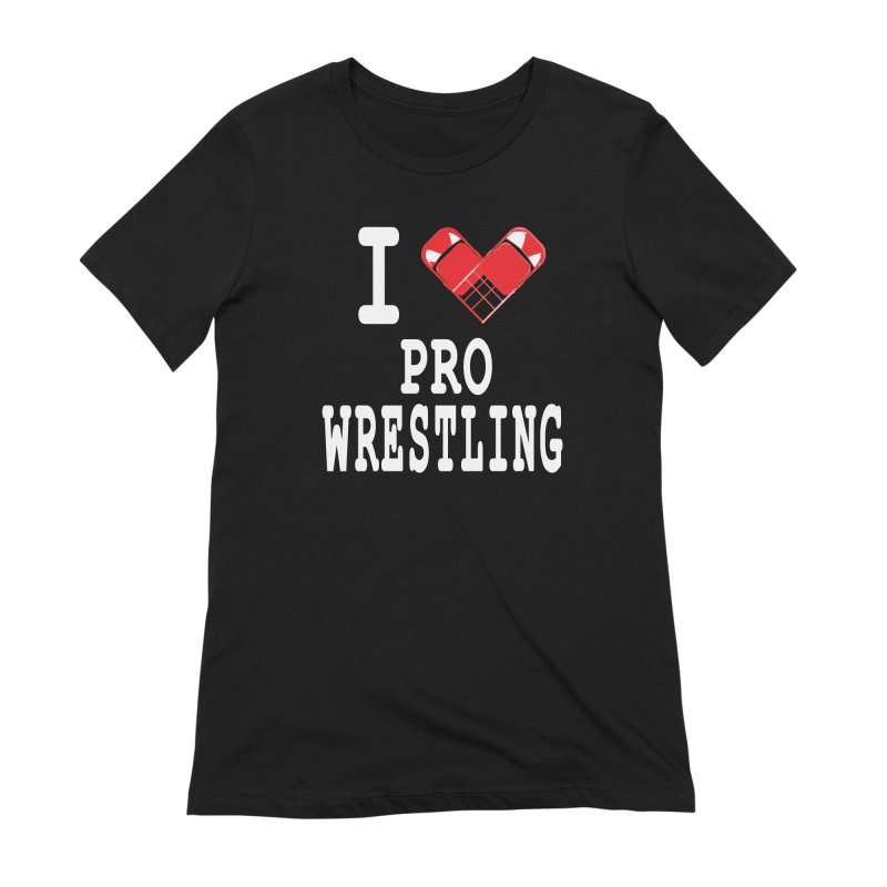I Heart Wrasslin! Women's Extra Soft T-Shirt by inbrightestday's Artist Shop