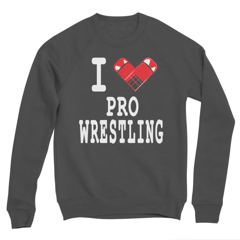 I Heart Wrasslin! Men's Sponge Fleece Sweatshirt by inbrightestday's Artist Shop