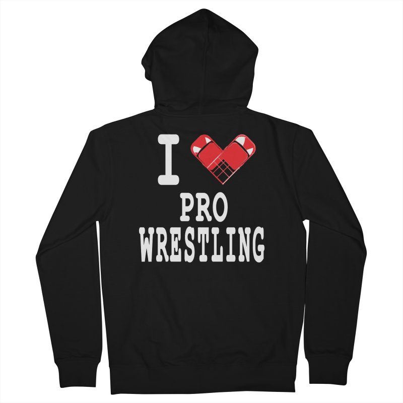 I Heart Wrasslin! Women's French Terry Zip-Up Hoody by inbrightestday's Artist Shop