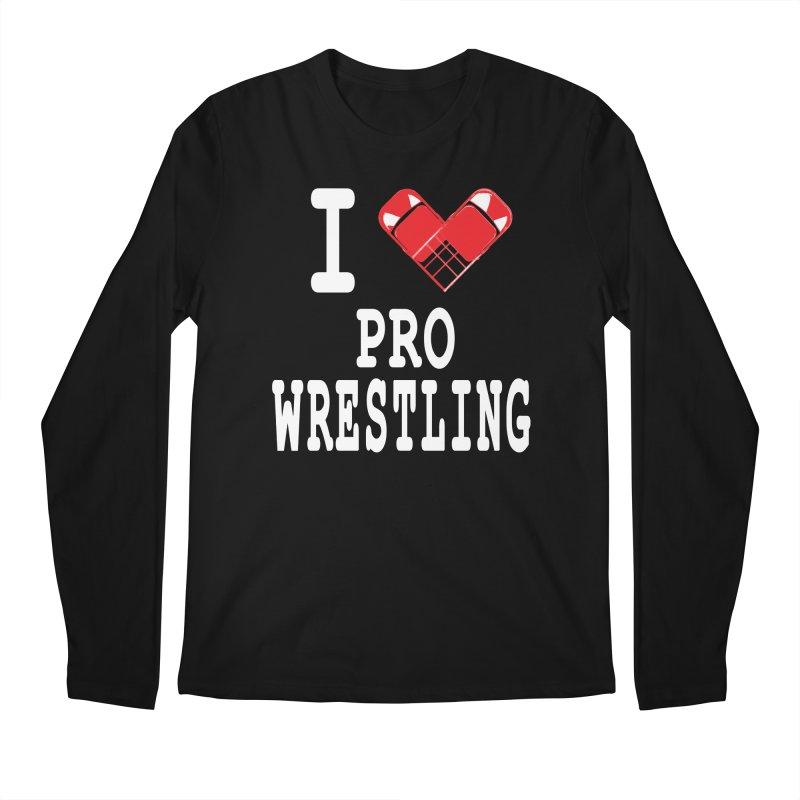 I Heart Wrasslin! Men's Regular Longsleeve T-Shirt by inbrightestday's Artist Shop