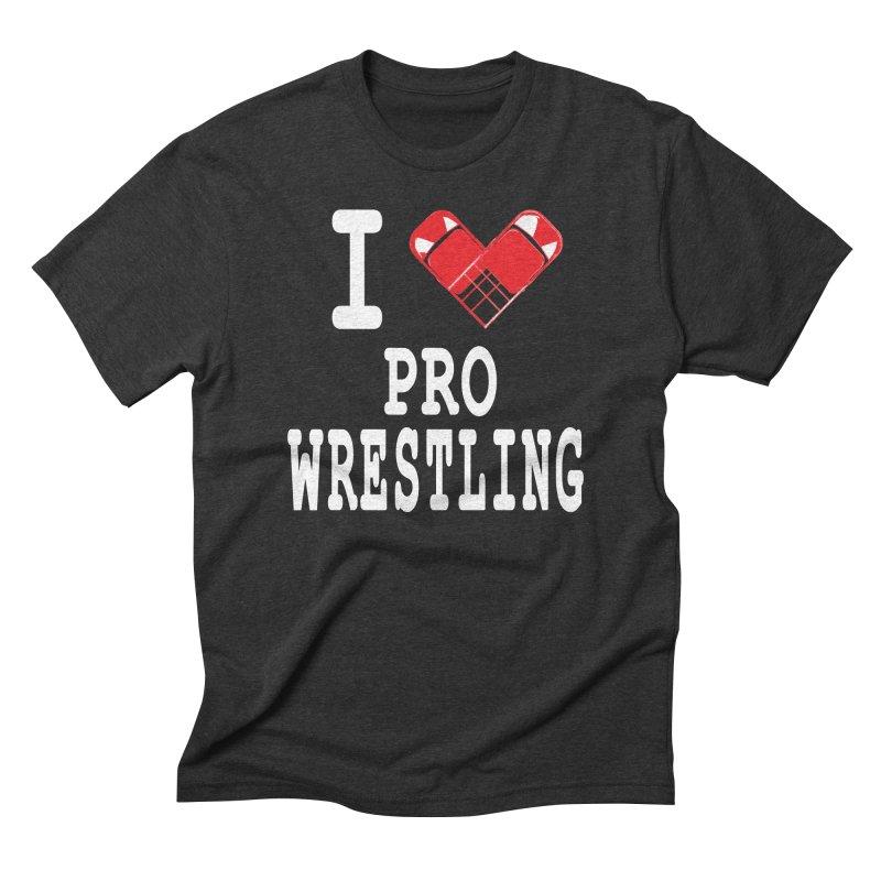 I Heart Wrasslin! Men's Triblend T-Shirt by inbrightestday's Artist Shop
