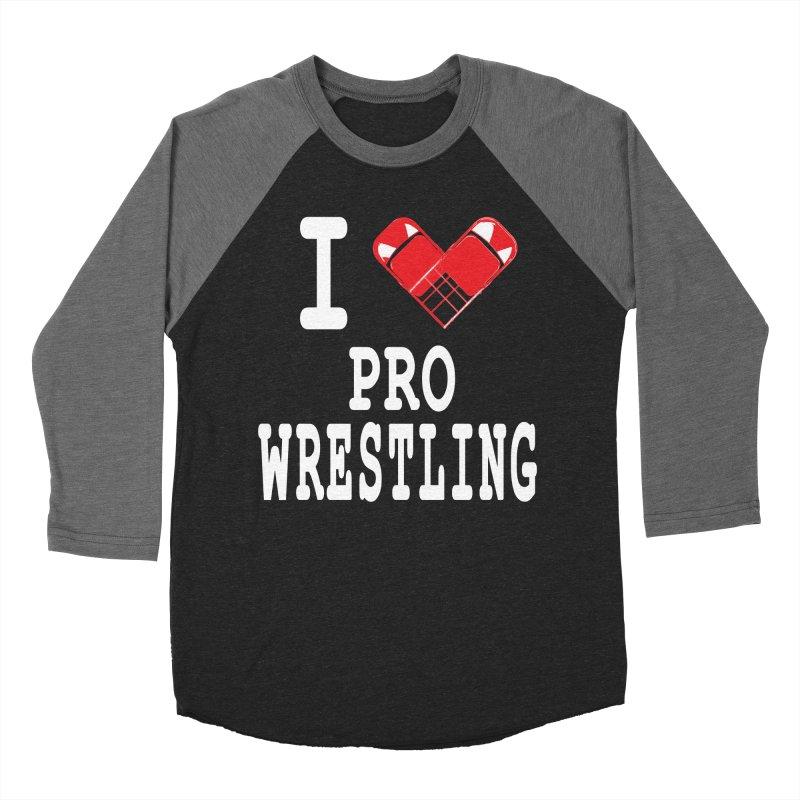 I Heart Wrasslin! Women's Baseball Triblend Longsleeve T-Shirt by inbrightestday's Artist Shop