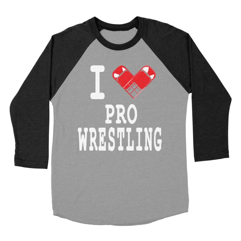 I Heart Wrasslin! Men's Baseball Triblend Longsleeve T-Shirt by inbrightestday's Artist Shop