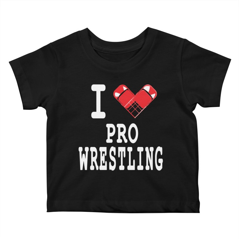 I Heart Wrasslin! Kids Baby T-Shirt by inbrightestday's Artist Shop