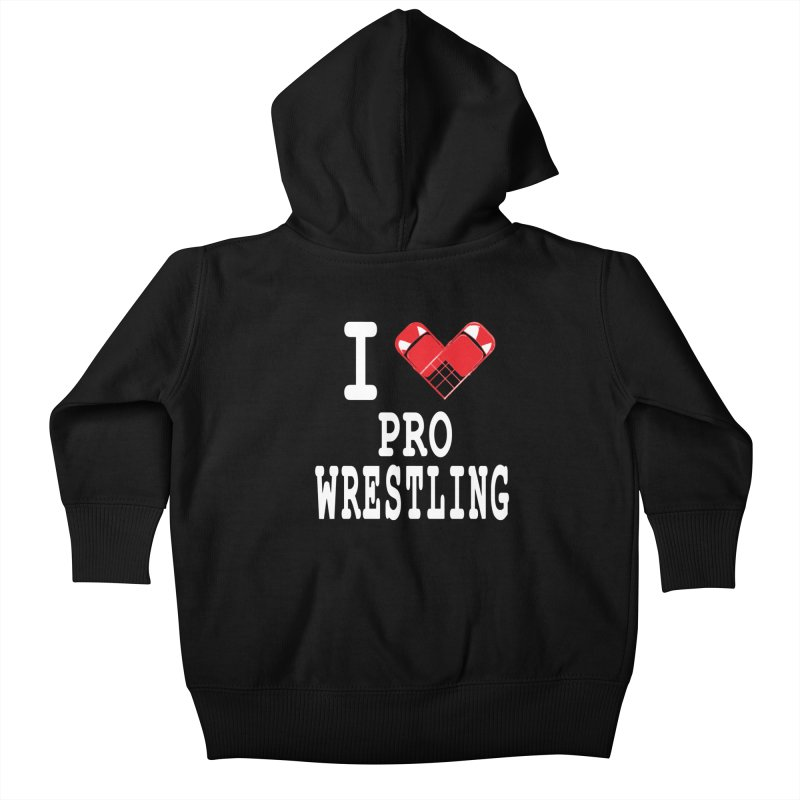 I Heart Wrasslin! Kids Baby Zip-Up Hoody by inbrightestday's Artist Shop