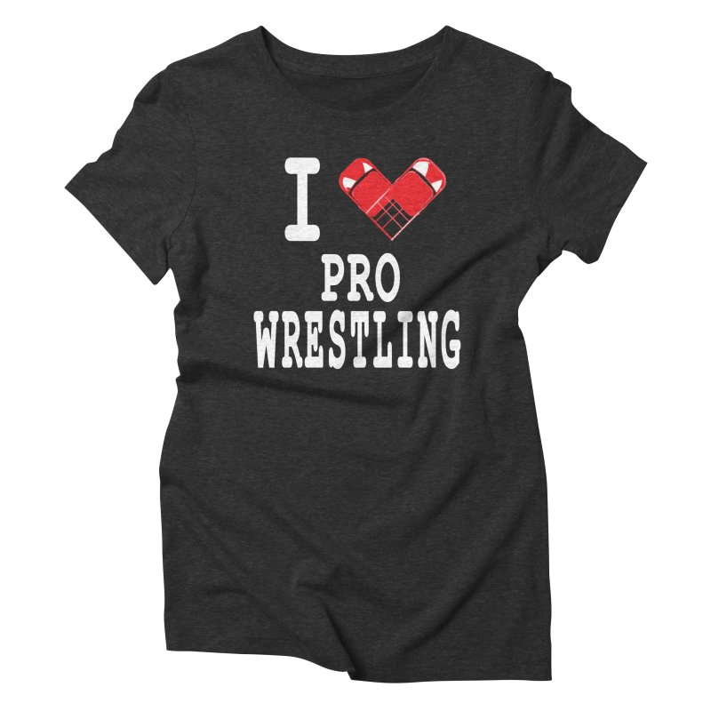 I Heart Wrasslin! Women's Triblend T-Shirt by inbrightestday's Artist Shop