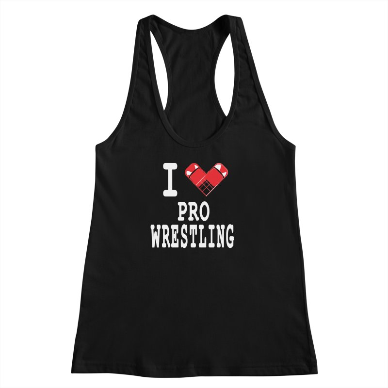 I Heart Wrasslin! Women's Racerback Tank by inbrightestday's Artist Shop