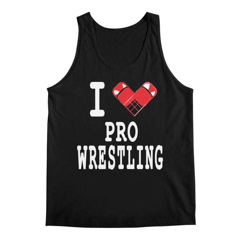 I Heart Wrasslin! Men's Regular Tank by inbrightestday's Artist Shop
