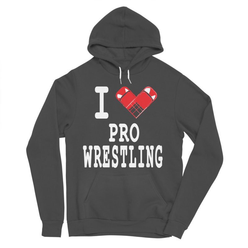 I Heart Wrasslin! Men's Sponge Fleece Pullover Hoody by inbrightestday's Artist Shop