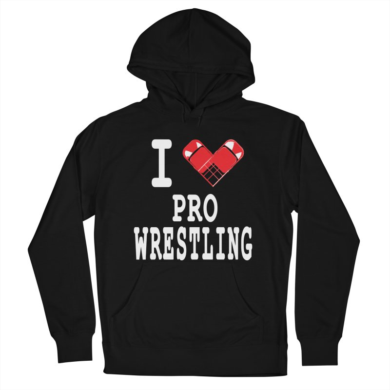 I Heart Wrasslin! Men's French Terry Pullover Hoody by inbrightestday's Artist Shop