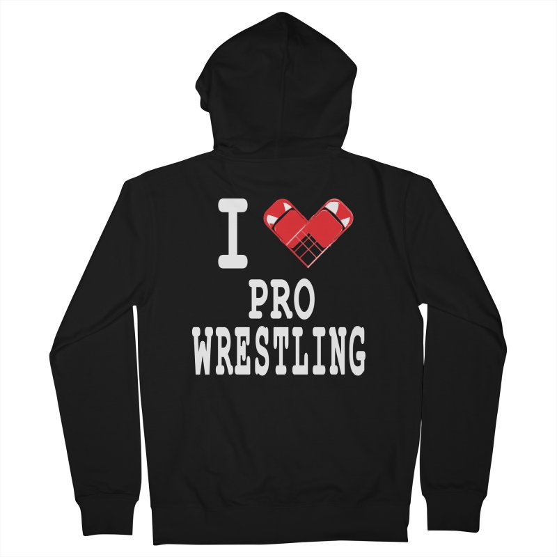 I Heart Wrasslin! Men's French Terry Zip-Up Hoody by inbrightestday's Artist Shop