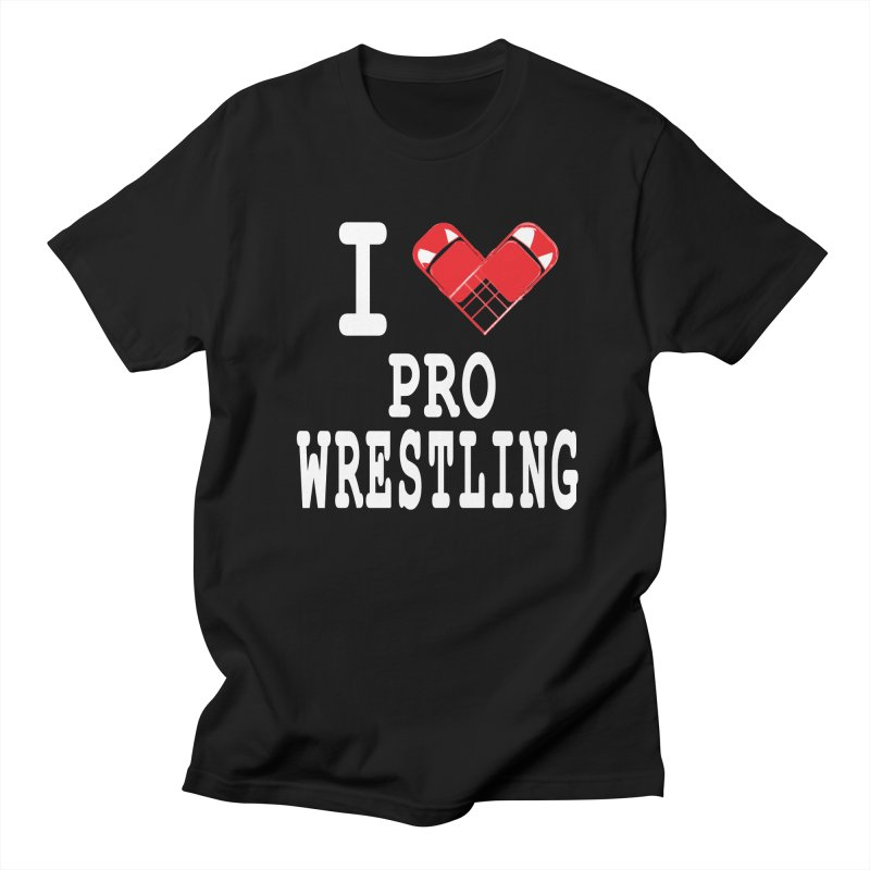 I Heart Wrasslin! Men's Regular T-Shirt by inbrightestday's Artist Shop
