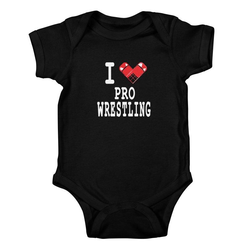 I Heart Wrasslin! Kids Baby Bodysuit by inbrightestday's Artist Shop