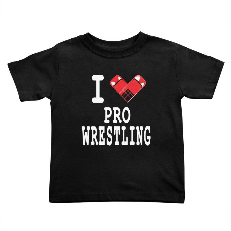 I Heart Wrasslin! Kids Toddler T-Shirt by inbrightestday's Artist Shop