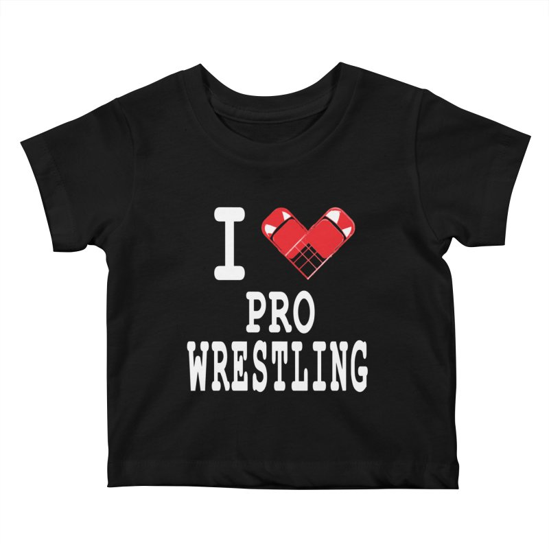 I Heart Wrasslin! Kids Baby T-Shirt by inbrightestday's Artist Shop