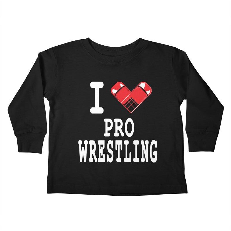I Heart Wrasslin! Kids Toddler Longsleeve T-Shirt by inbrightestday's Artist Shop