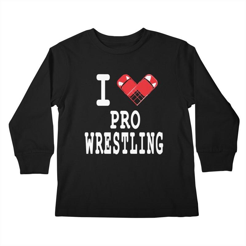 I Heart Wrasslin! Kids Longsleeve T-Shirt by inbrightestday's Artist Shop