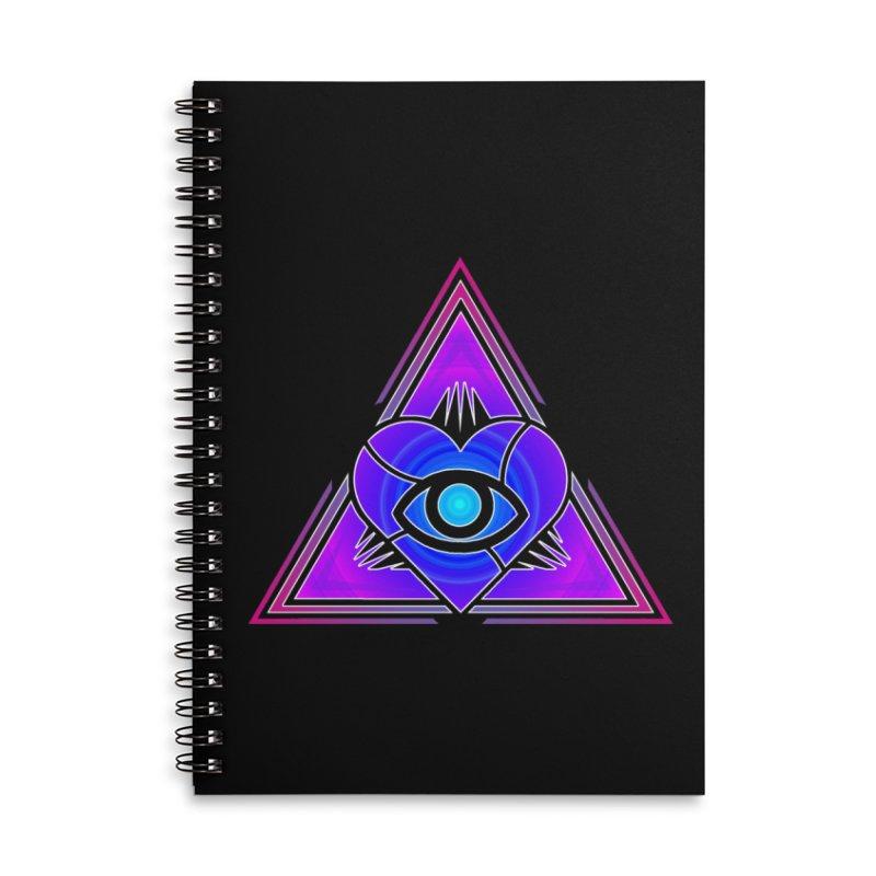 Illoveinati Accessories Lined Spiral Notebook by inbrightestday's Artist Shop