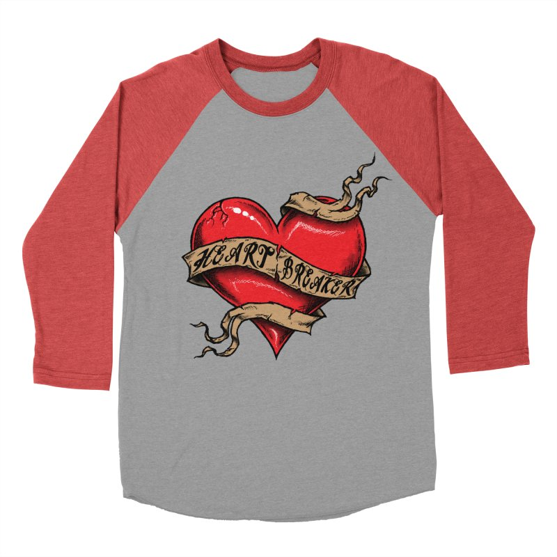 Heart Breaker Women's Baseball Triblend T-Shirt by inbrightestday's Artist Shop