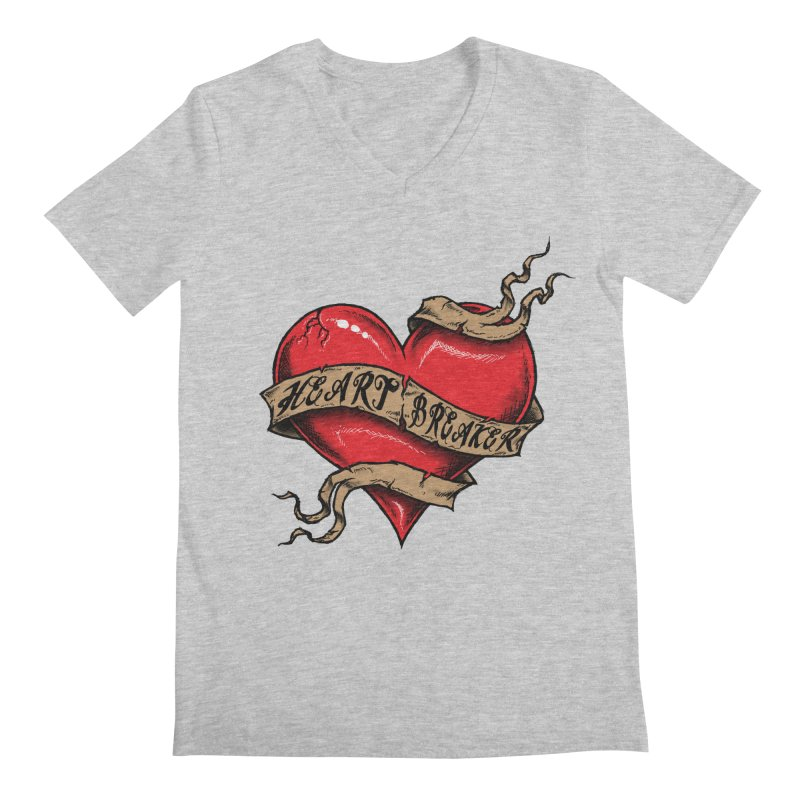 Heart Breaker Men's V-Neck by inbrightestday's Artist Shop