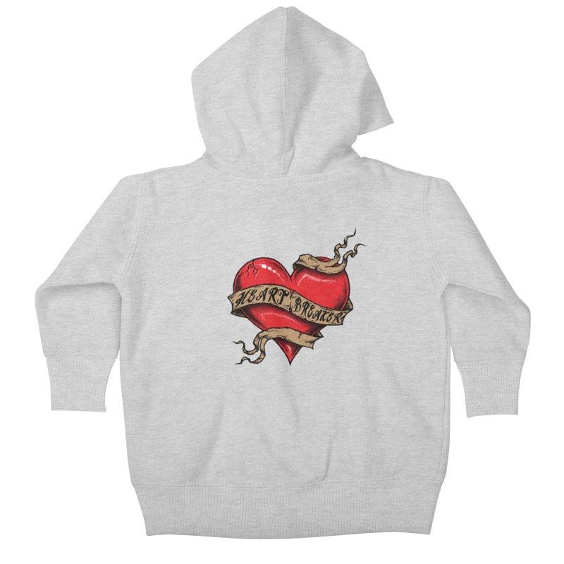 Heart Breaker Kids Baby Zip-Up Hoody by inbrightestday's Artist Shop