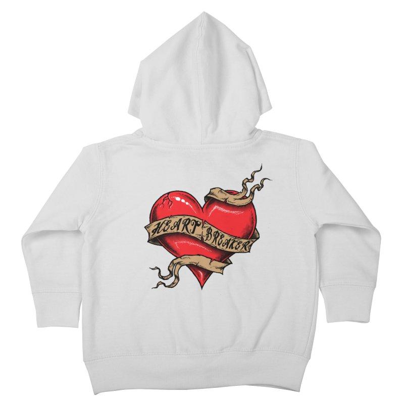 Heart Breaker Kids Toddler Zip-Up Hoody by inbrightestday's Artist Shop