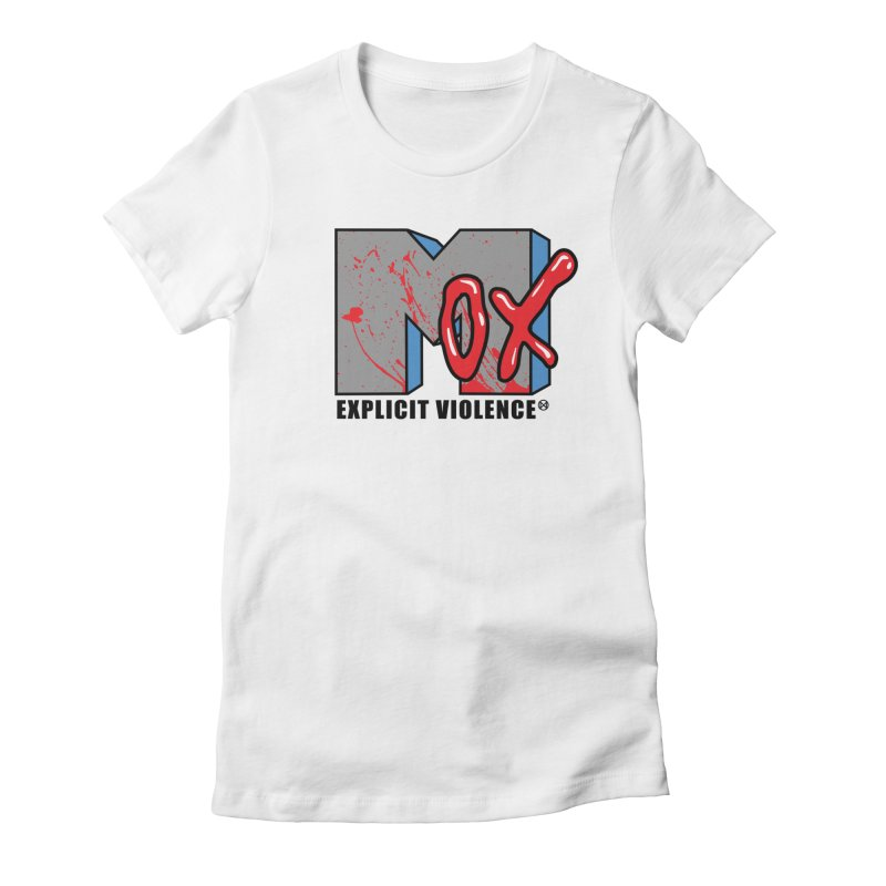 Violent Television Women's Fitted T-Shirt by inbrightestday's Artist Shop