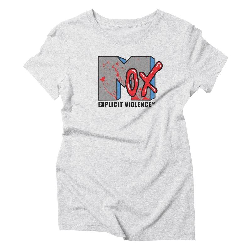 Violent Television Women's Triblend T-Shirt by inbrightestday's Artist Shop